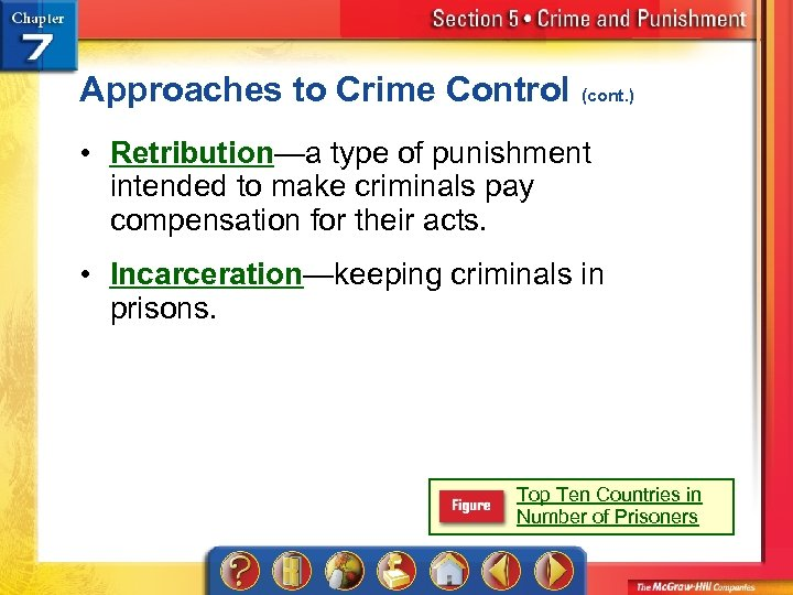 Approaches to Crime Control (cont. ) • Retribution—a type of punishment intended to make