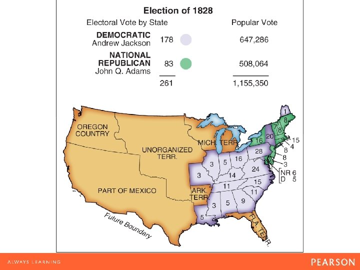 Map 10. 1 Election of 1828