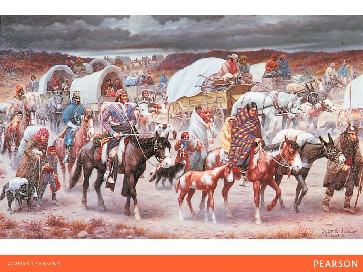 Trail of Tears Robert Lindneux, The Trail of Tears (1942). Cherokee Indians, carrying their