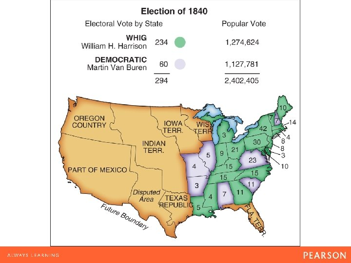 Map 10. 3 Election of 1840