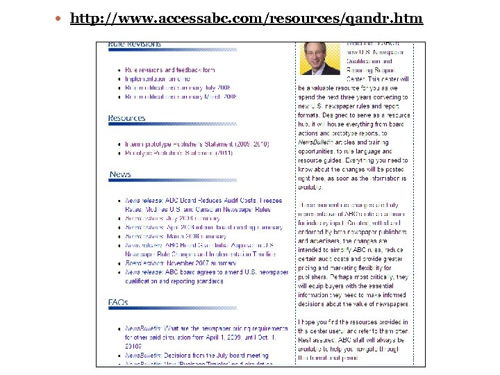 http: //www. accessabc. com/resources/qandr. htm