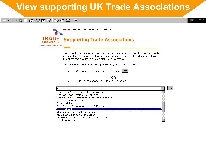 View supporting UK Trade Associations