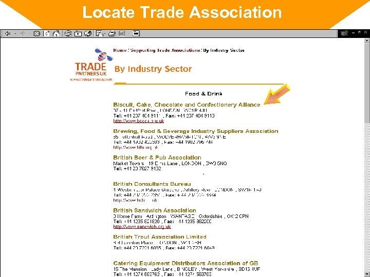 Locate Trade Association
