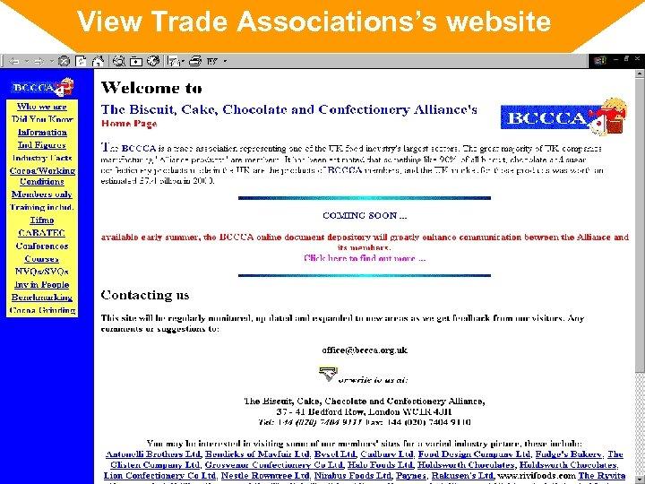 View Trade Associations's website