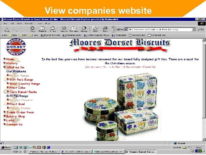 View companies website