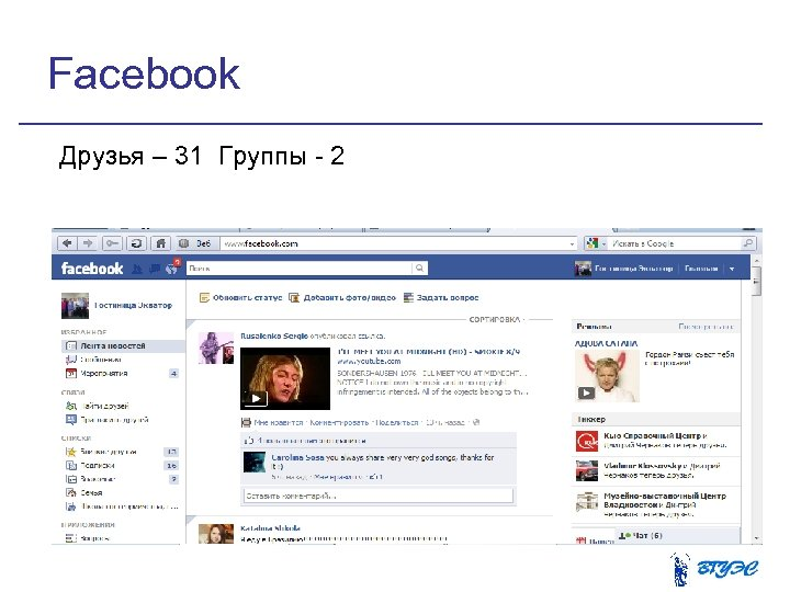 Facebook Друзья – 31 Группы - 2