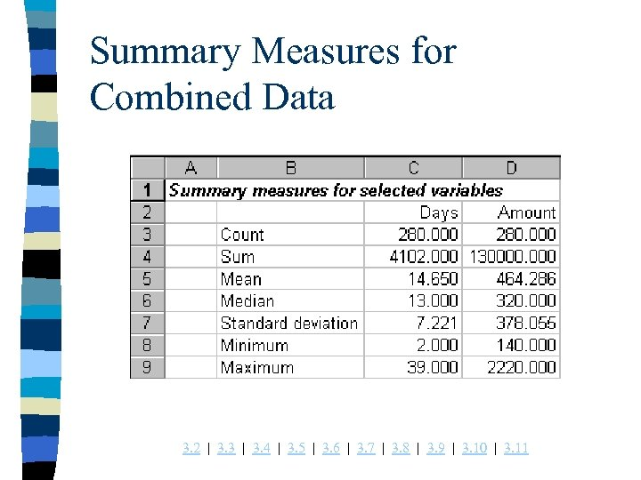 Summary Measures for Combined Data 3. 2 | 3. 3 | 3. 4 |