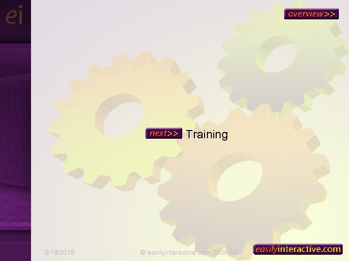Training 3/18/2018 © easilyinteractive. com 2006 -10 37