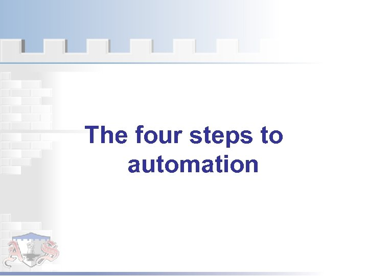 The four steps to automation
