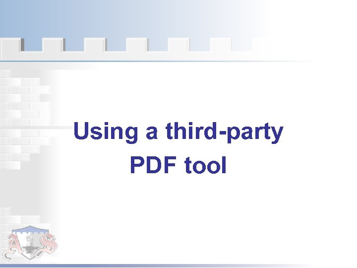 Using a third-party PDF tool