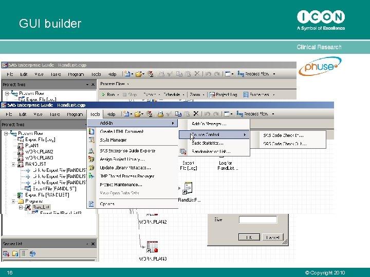 GUI builder 16 © Copyright 2010