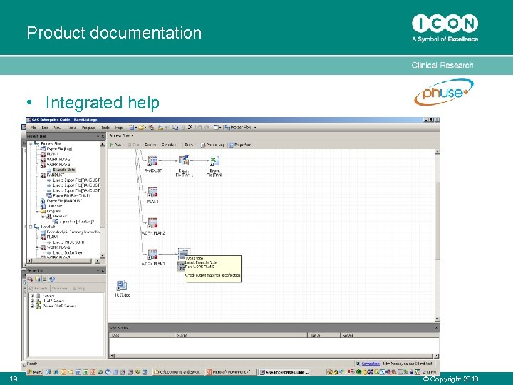 Product documentation • Integrated help • Project Documentation – Access to requirements documentation –