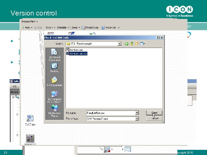 Version control • The management of changes to documents, programs and other computer files.