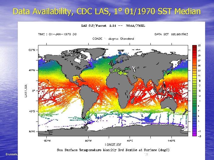 Data Availability, CDC LAS, 1° 01/1970 SST Median Brussels, Belgium 17 -22 Nov. 2003