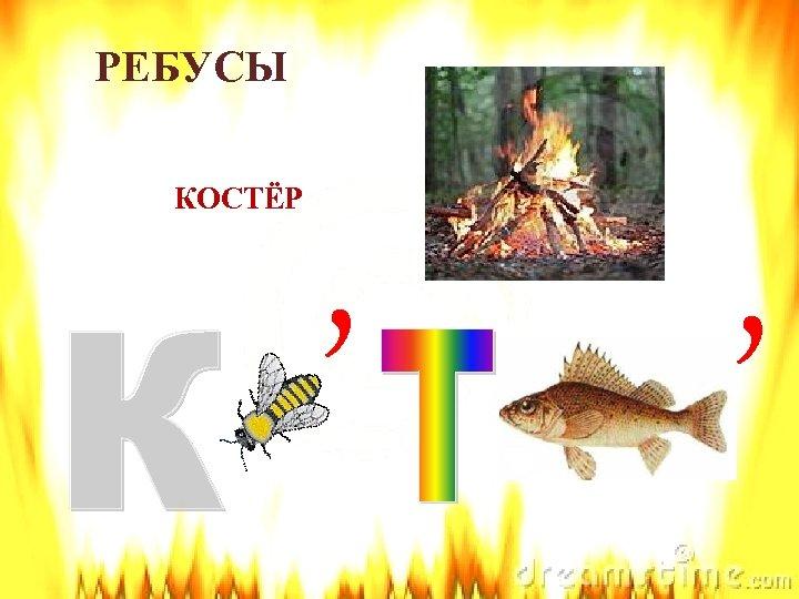 РЕБУСЫ КОСТЁР , ,