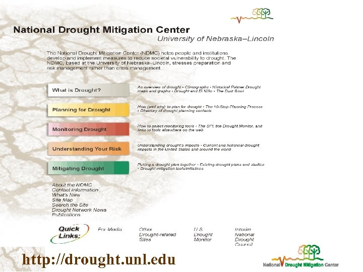 http: //drought. unl. edu