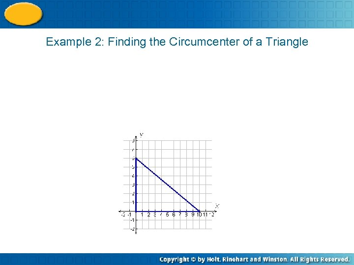 Example 2: Finding the Circumcenter of a Triangle