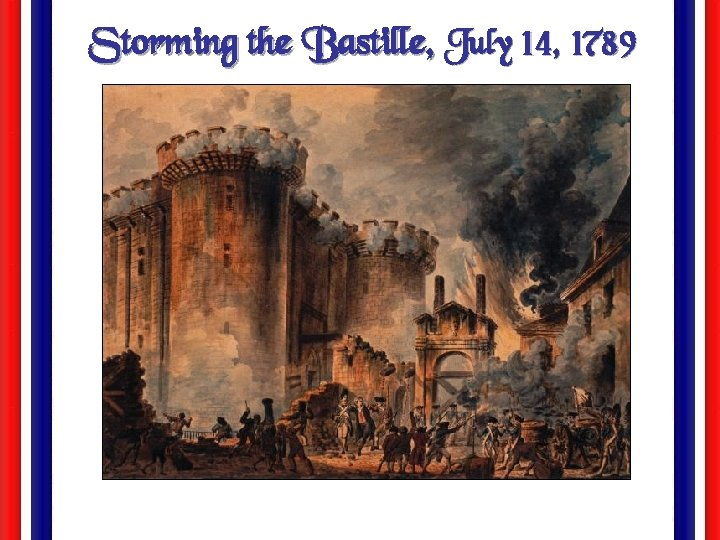Storming the Bastille, July 14, 1789