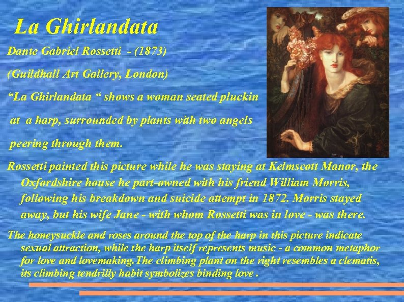 "La Ghirlandata Dante Gabriel Rossetti - (1873) (Guildhall Art Gallery, London) ""La Ghirlandata """