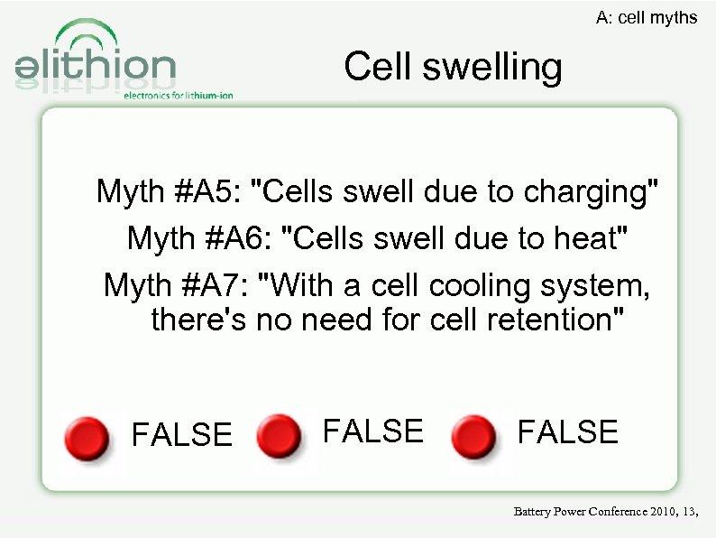 A: cell myths Cell swelling Myth #A 5: