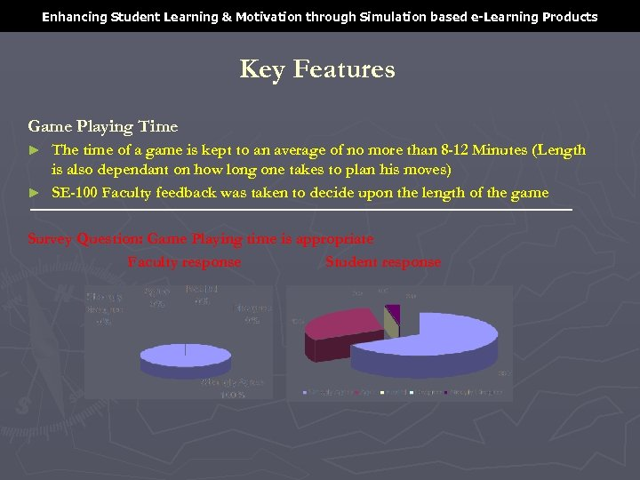 Enhancing Student Learning & Motivation through Simulation based e-Learning Products Key Features Game Playing
