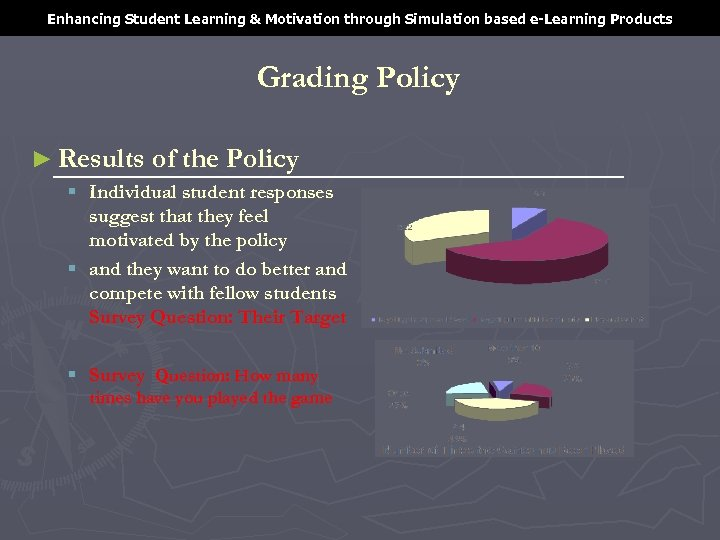 Enhancing Student Learning & Motivation through Simulation based e-Learning Products Grading Policy ► Results