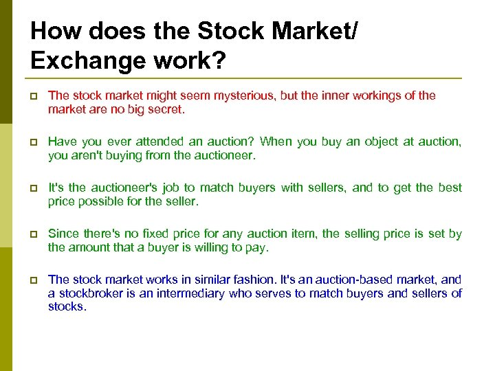 How does the Stock Market/ Exchange work? p The stock market might seem mysterious,