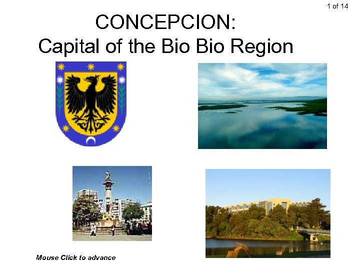 1 of 14 CONCEPCION: Capital of the Bio Region Mouse Click to advance