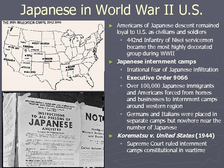 Japanese in World War II U. S. Americans of Japanese descent remained loyal to