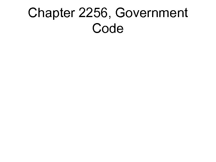 Chapter 2256, Government Code