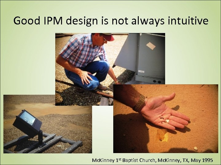 Good IPM design is not always intuitive Mc. Kinney 1 st Baptist Church, Mc.
