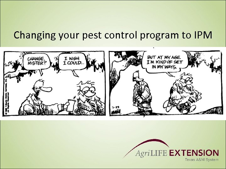 Changing your pest control program to IPM