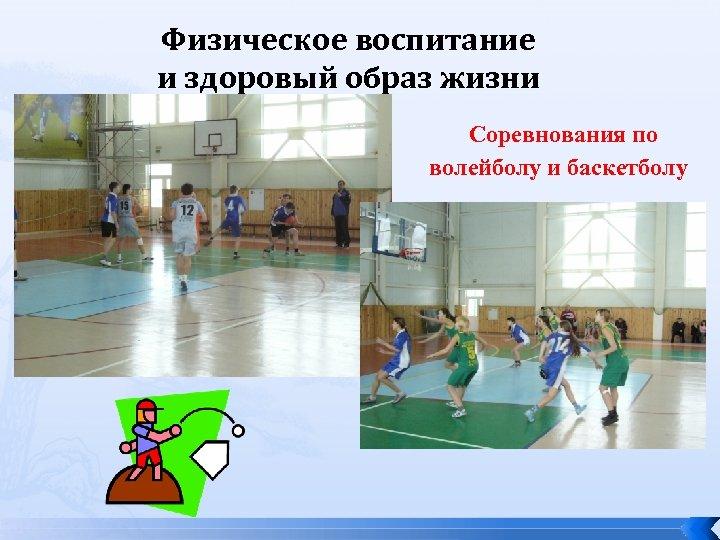Физическое воспитание и здоровый образ жизни Соревнования по волейболу и баскетболу