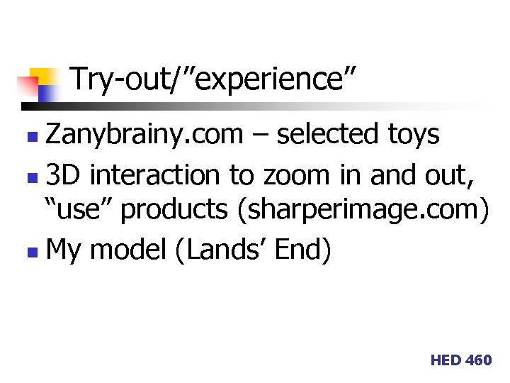"""Try-out/""""experience"""" Zanybrainy. com – selected toys n 3 D interaction to zoom in and"""