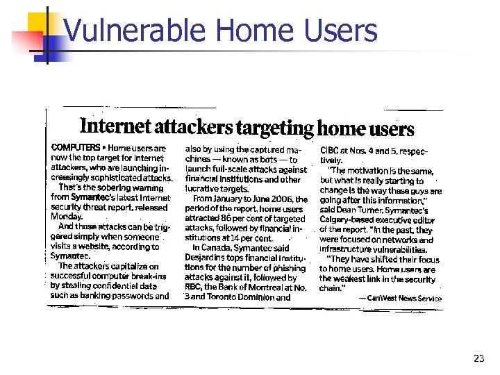 Vulnerable Home Users 23