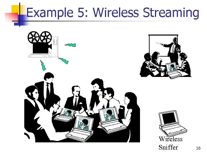 Example 5: Wireless Streaming Wireless Sniffer 36