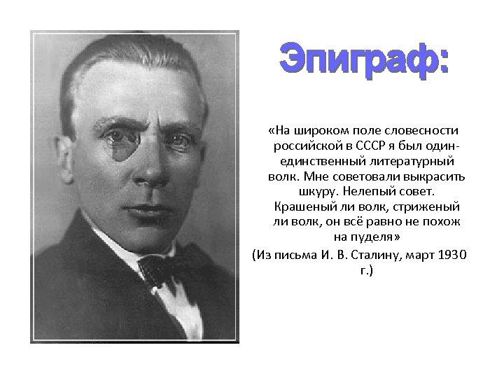 «На широком поле словесности российской в СССР я был одинединственный литературный волк. Мне
