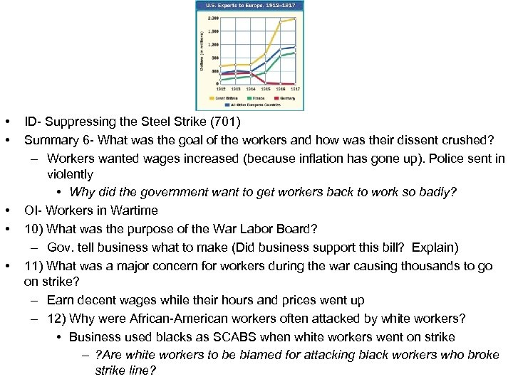 • • • ID- Suppressing the Steel Strike (701) Summary 6 - What
