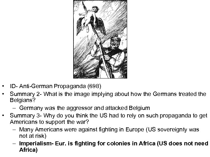 • ID- Anti-German Propaganda (698) • Summary 2 - What is the image