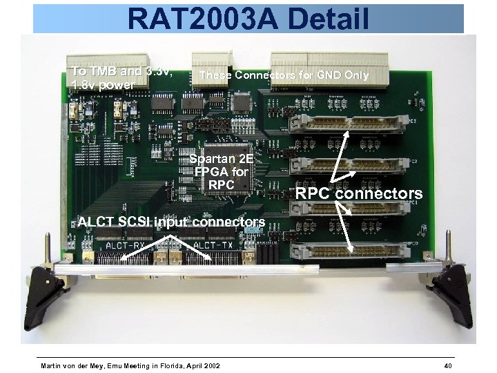 RAT 2003 A Detail To TMB and 3. 3 v, 1. 8 v power