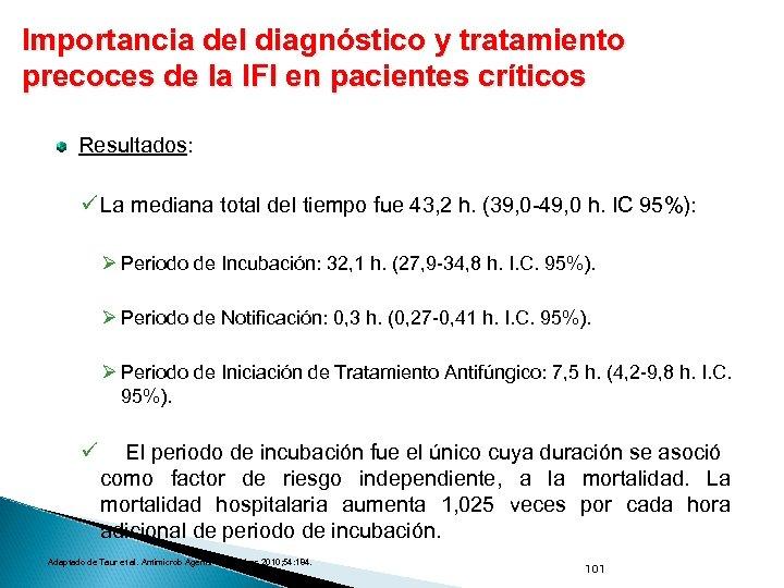 Importancia del diagnóstico y tratamiento precoces de la IFI en pacientes críticos Resultados: ü
