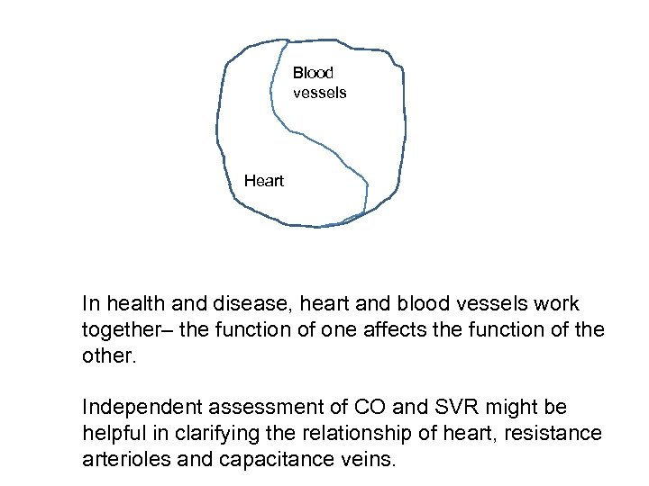 Blood vessels Heart In health and disease, heart and blood vessels work together– the