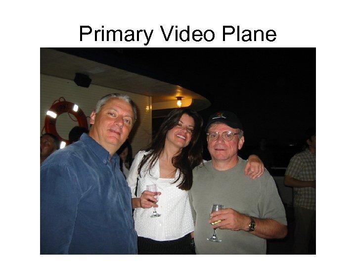 Primary Video Plane