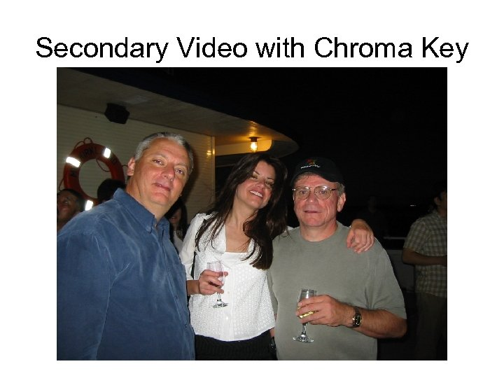 Secondary Video with Chroma Key