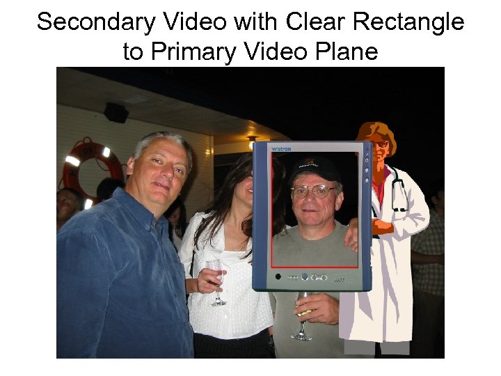 Secondary Video with Clear Rectangle to Primary Video Plane