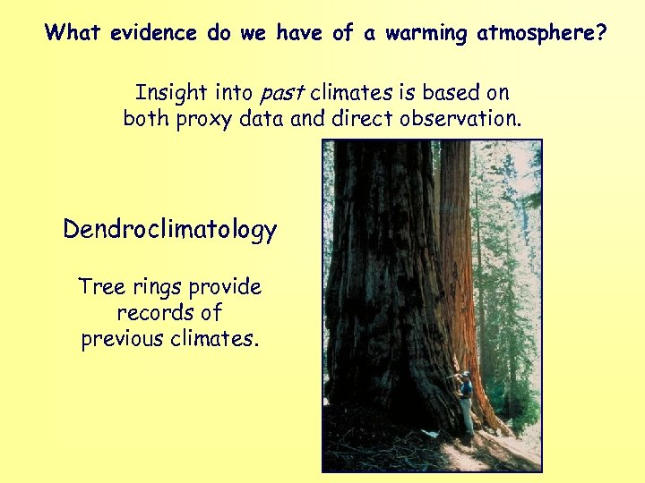 What evidence do we have of a warming atmosphere? Insight into past climates is