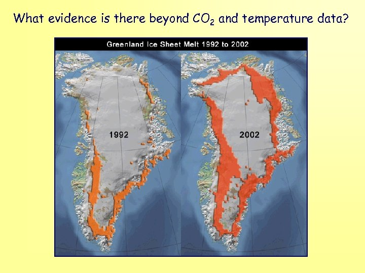 What evidence is there beyond CO 2 and temperature data?