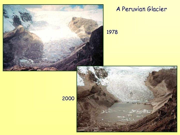 A Peruvian Glacier 1978 2000