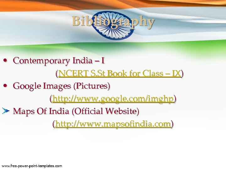 Bibliography • Contemporary India – I (NCERT S. St Book for Class – IX)