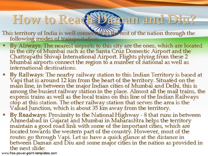 How to Reach Daman and Diu? This territory of India is well connected to